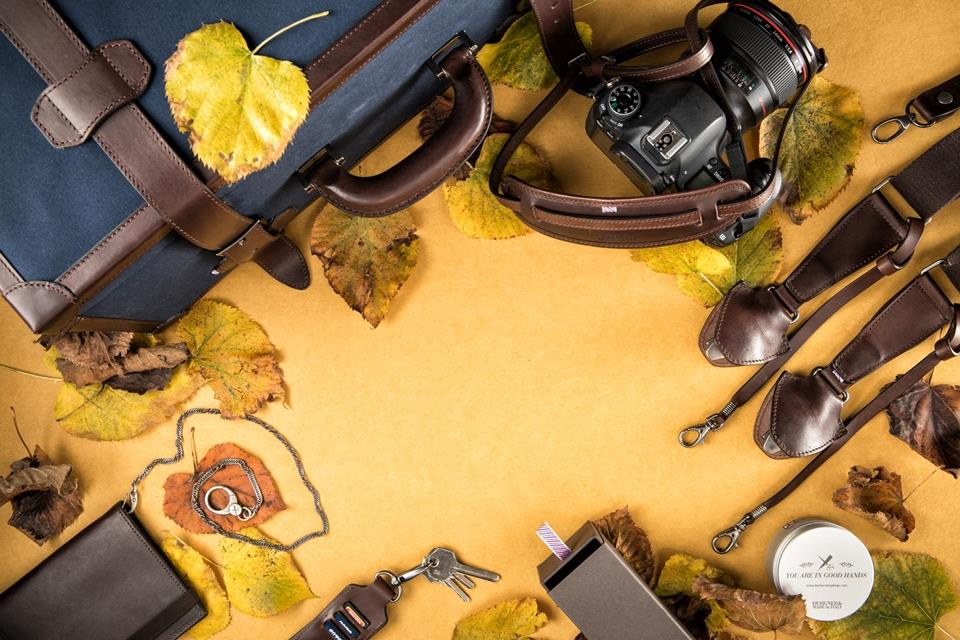 Premium leather camera bags and accessories designed for traveler photographers.