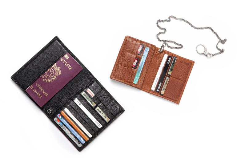 LEATHER PASSPORT AND MEMORY CARD HOLDER FRINGE