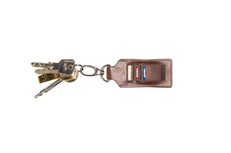 LEATHER KEY RING CLIPPER