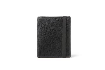 Passport Holder in Grained black leather