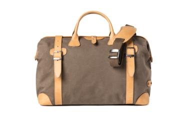 BORSA TRAVELER QUIFF in Canvas e pelle naturale