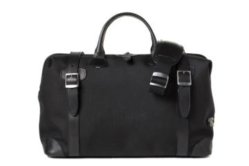 DOCTOR BAG QUIFF in Black cordura and leather