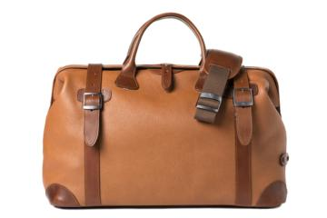 DOCTOR BAG QUIFF in Grained brown leather