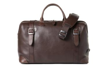 DOCTOR BAG QUIFF in Dark brown leather