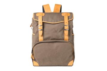 BACKPACK MOP TOP in Canvas e pelle marrone