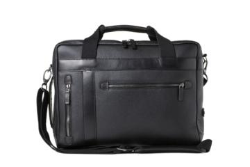 CONVERTIBLE BAG UNDERCUT in Grained black leather