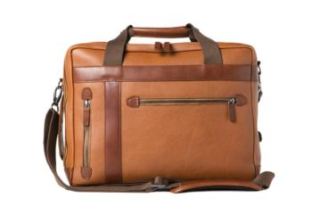 CONVERTIBLE BAG UNDERCUT in Grained brown leather