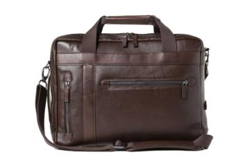CONVERTIBLE BAG UNDERCUT in Dark brown leather