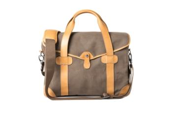 MEDIUM MESSENGER BOB CUT in Brown canvas and leather