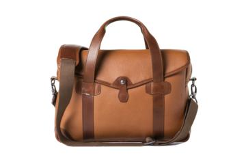 MEDIUM MESSENGER BOB CUT in Grained brown leather
