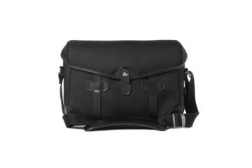 SMALL MESSENGER PAGEBOY in Black cordura and leather