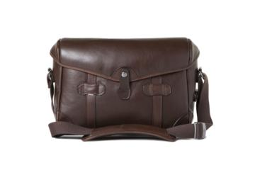 SMALL MESSENGER PAGEBOY in Dark brown leather