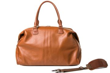 TRAVELER CAMERA BAG CESAR CUT in Pelle martellata marrone