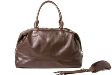 TRAVELER CAMERA BAG CESAR CUT in Dark brown leather