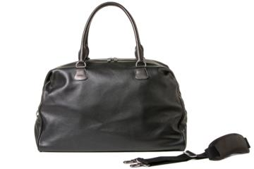 TRAVELER CAMERA BAG CESAR CUT in Grained black leather
