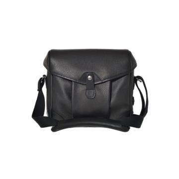 Small Messenger Smart Bob in Grained black leather