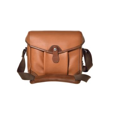 Borsa a spalla piccola Smart Bob in Pelle martellata marrone